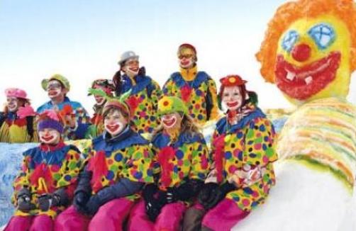 Faschings Clown Party Am Shuttleberg Auf Sunny At
