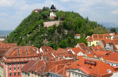 Sommerpicknick Beim Uhrturm Am Schlossberg Graz Auf Sunny.at