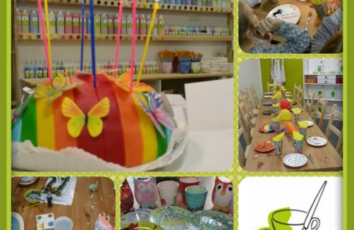 Kreativer Kindergeburtstag bei Paint your Style