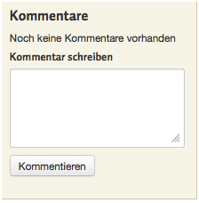 Kommentarfunktion